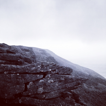 Image of Ingleborough summit in low cloud © Lyndon Marquis